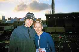 posing before Seattle marathon 2004