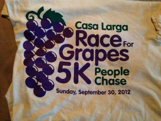 Casa Larga race for grapes shirt