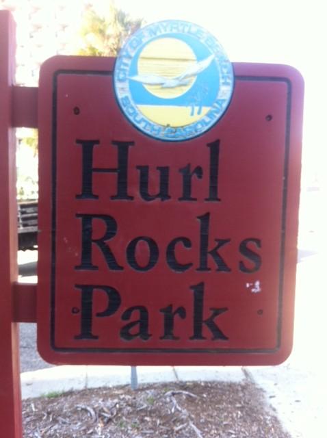 hurl rocks park, myrtle beach