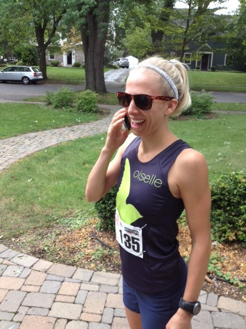 talking on cell phone while exercising
