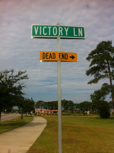 Victory Lane, dead end