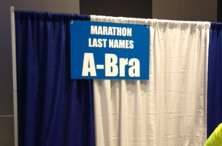 marathon expo bib number pickup