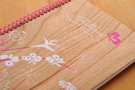 believe i am journal with cherry wood cover