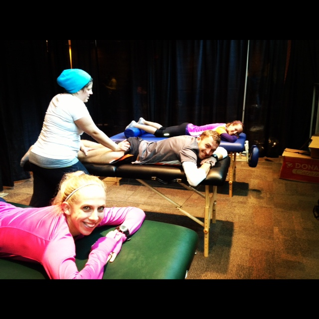 post race massage, columbus marathon