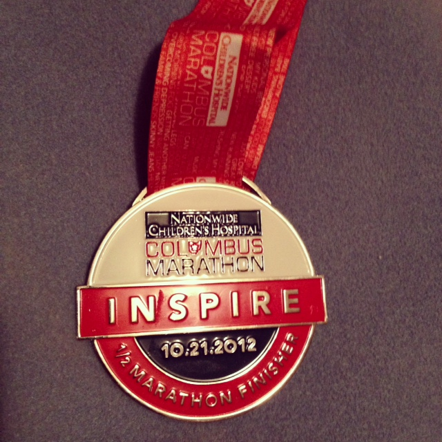 columbus marathon 2012 medal, half marathon