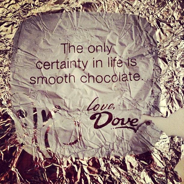 quote on dove chocolate