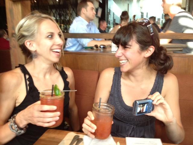 girls drinking bloody marys
