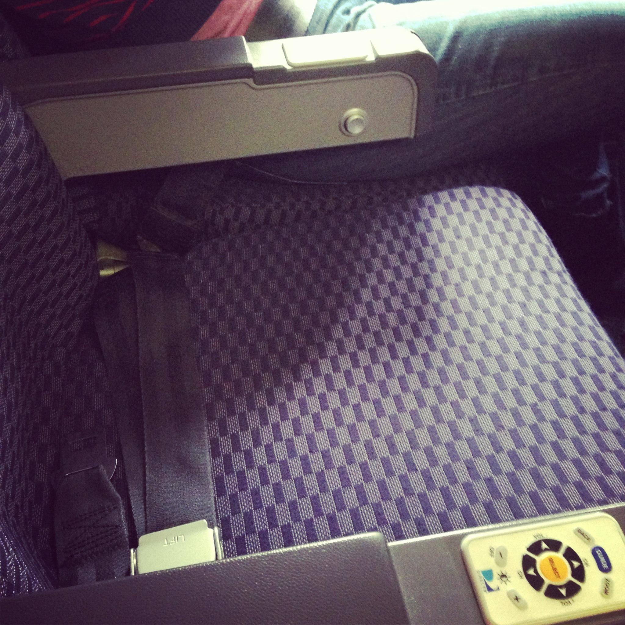 empty row on plane