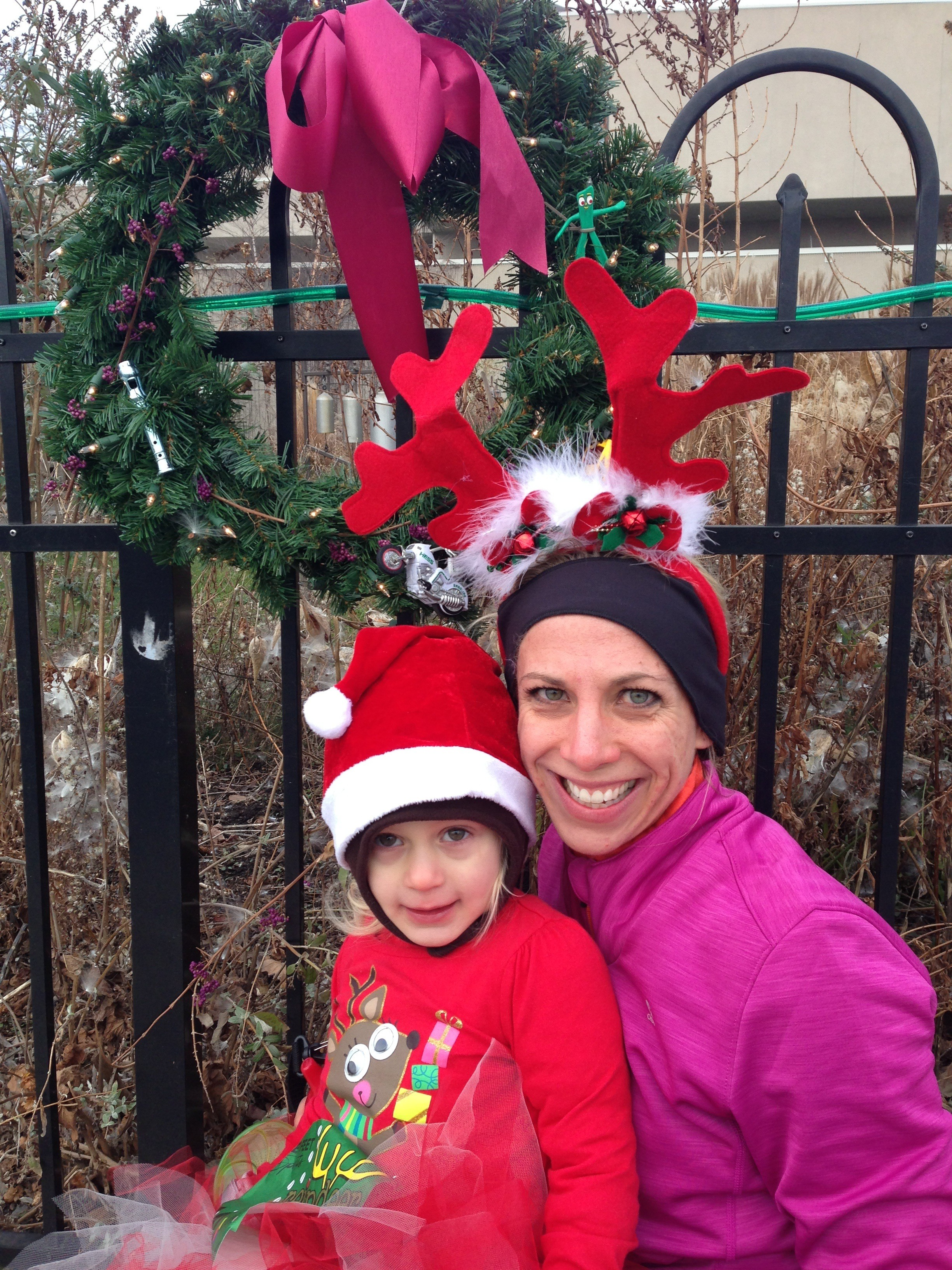 Currie and Jen Reindeer Run 5k