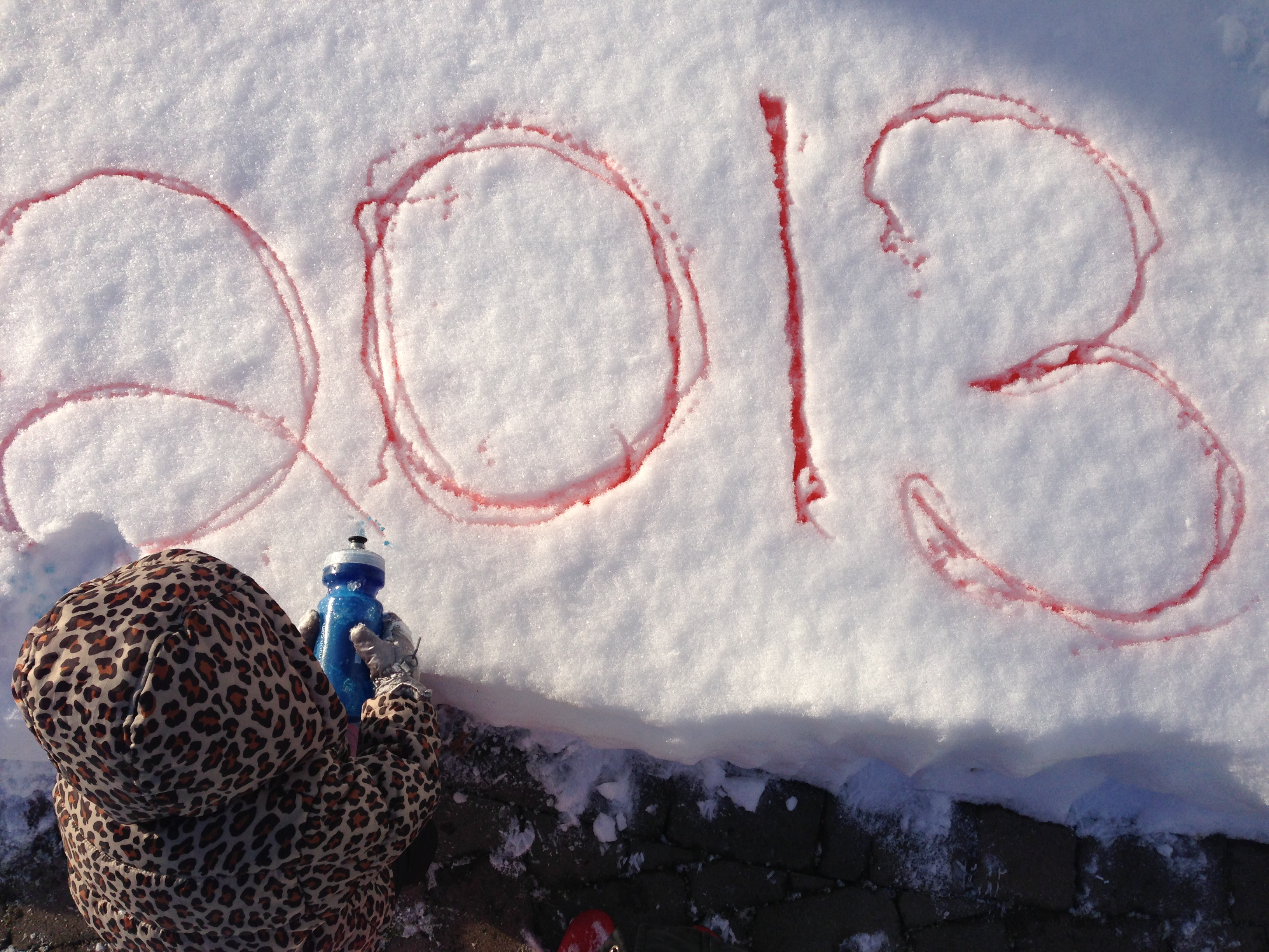 food coloring in snow spelling 2013
