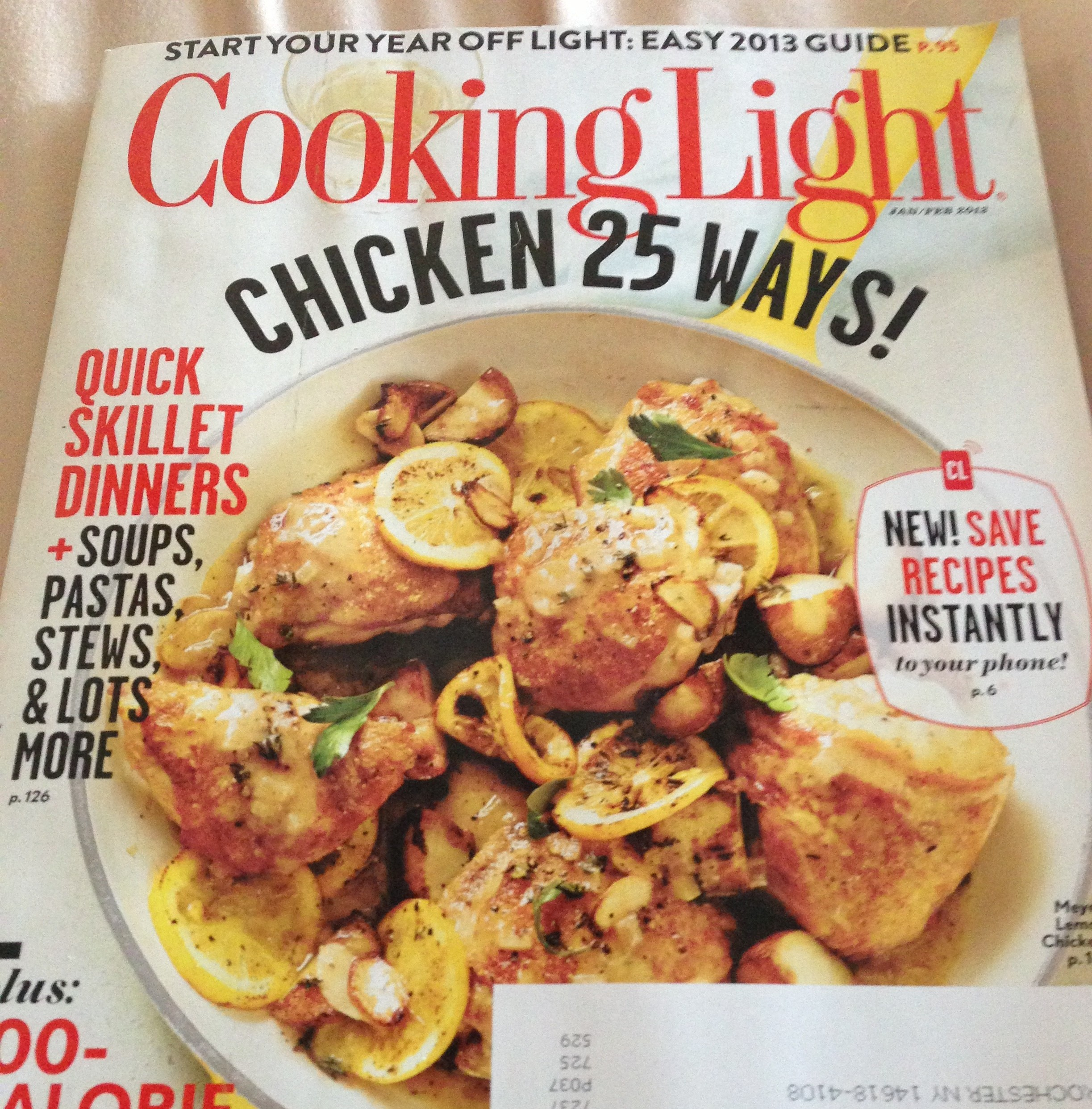 cooking light, jan/feb 2013