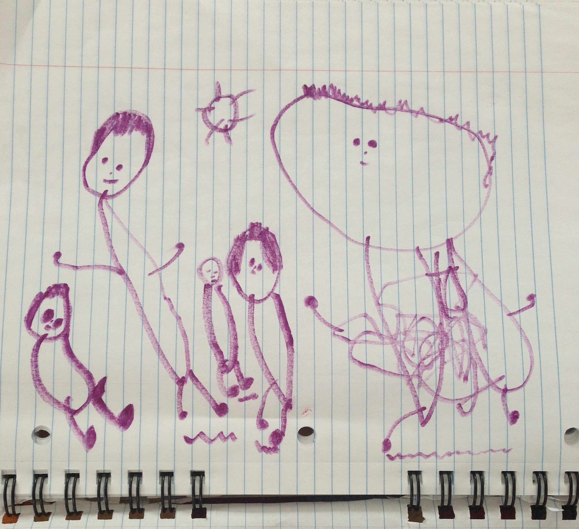 toddler draws people