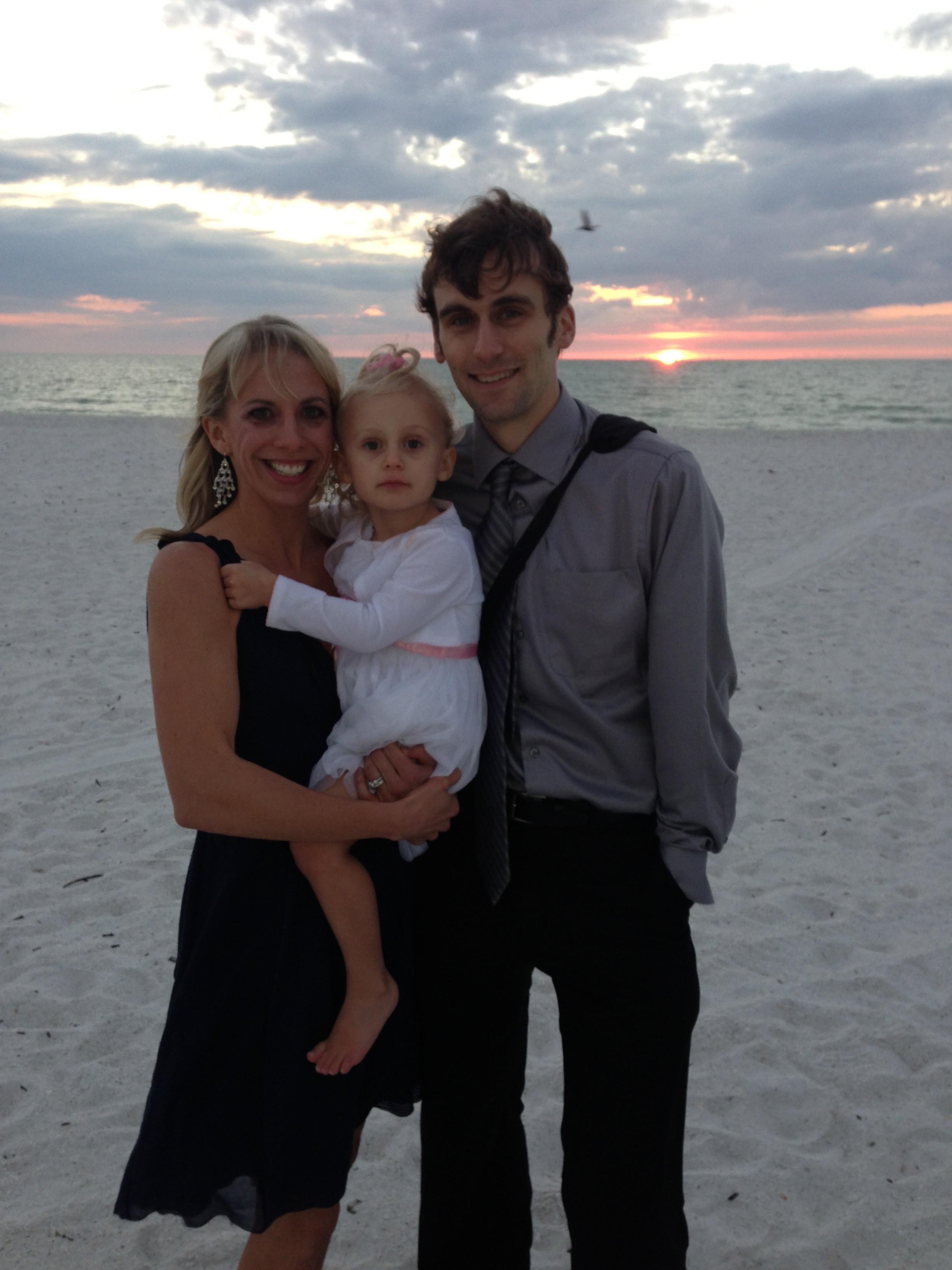 family at wedding