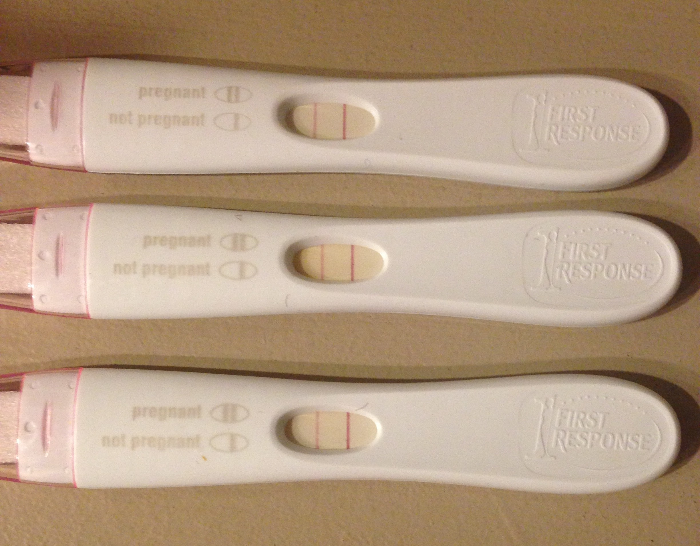 3 positive pregnancy tests in a row
