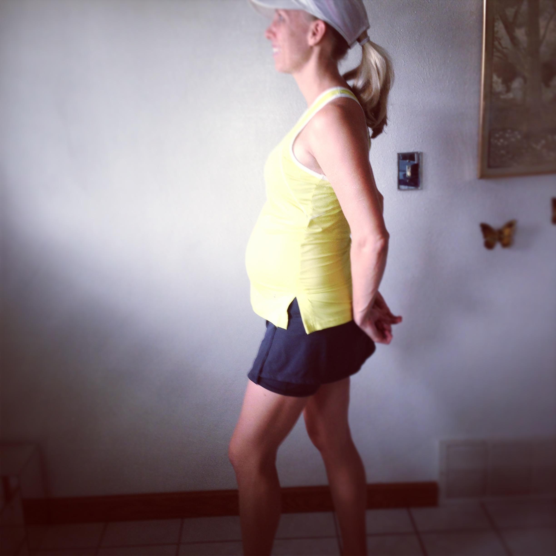 27 week pregnant runner