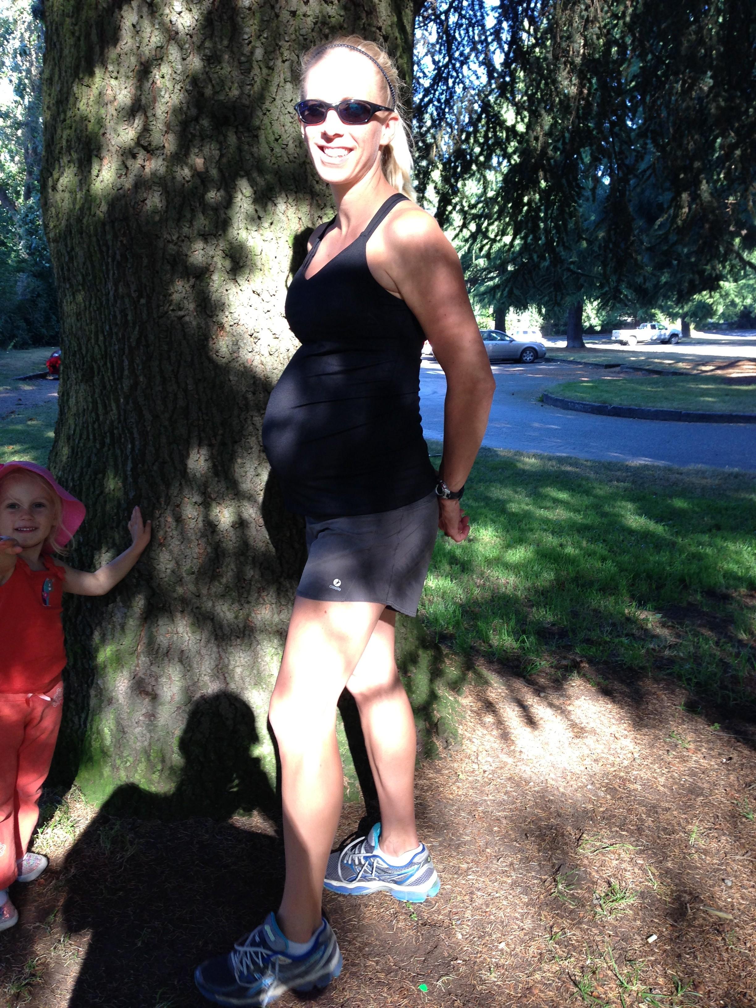 29 week pregnant runner