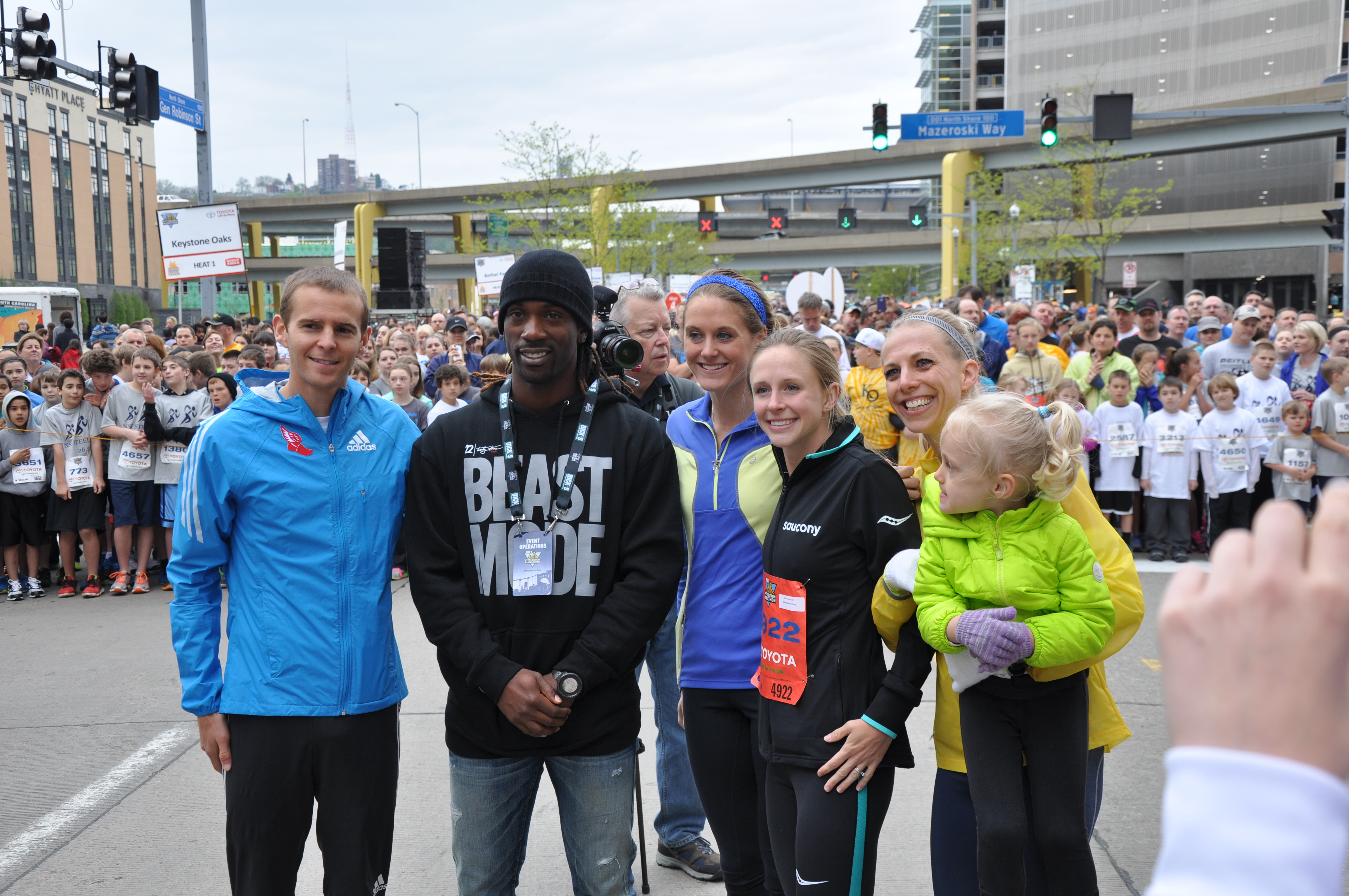 "Athletes are the only ""celebrities"" I can about. Lucky enough to hang out with these fine athletes over the weekend. Jeffrey Eggleston, Andrew McCutchen, Heather Kampf, Clara Santucci."