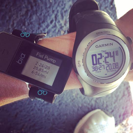 GPS watch comparison after the mentally tough and hot 20 mile run.