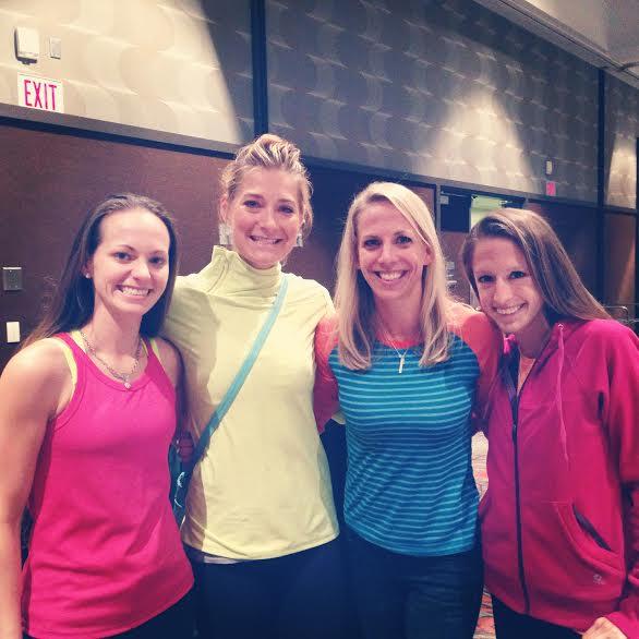 Kristine, Heidi, me, Aubrey!