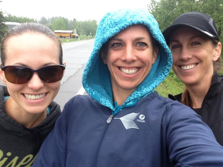 Pre-race with Kristine and Heather!