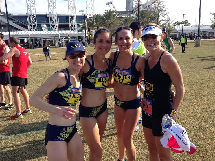 Allison K, me, Allison D, and Holly post Gate River Run!