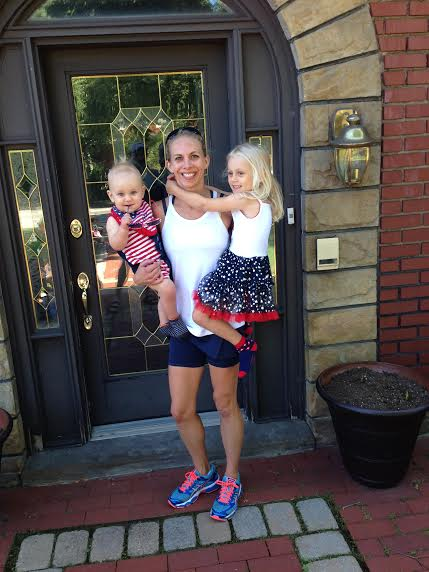 Cool running shoes plus my little darlings on the 4th of July!